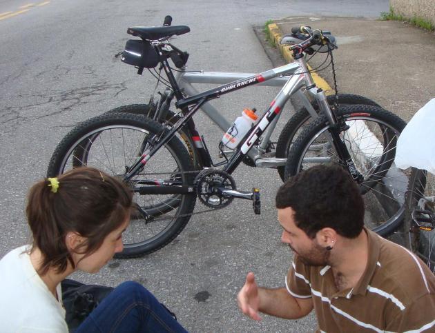 Foto da bicicleta furtada em Florianópolis.