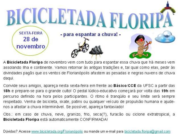 Bicicletada Floripa de novembro de 2008