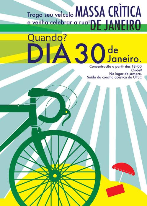 Logo da Bicicletada Floripa de janeiro de 2009