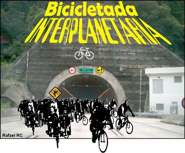 Logo da Bicicletada Interplanetária 2008, versão 4