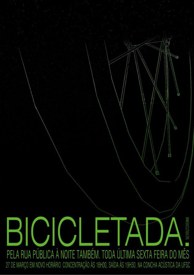 Cartaz da Bicicletada Floripa de março v.1