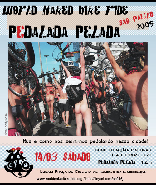 Cartaz do World Naked Bike Ride São Paulo, v2