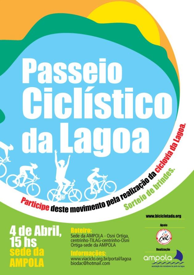 Cartaz do Passeio Ciclistico da Lagoa da Conceição.