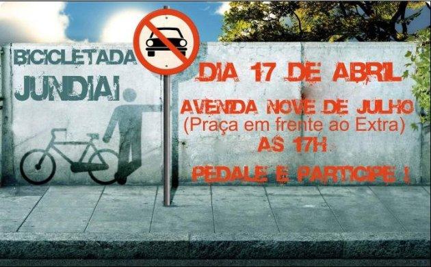 Cartaz da Bicicletada Jundiaí 2009-04-17 v2.