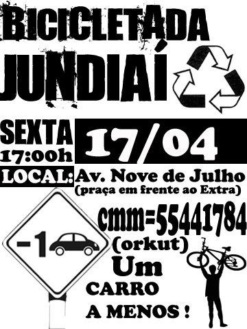 Cartaz da Bicicletada Jundiaí 2009-04-17.