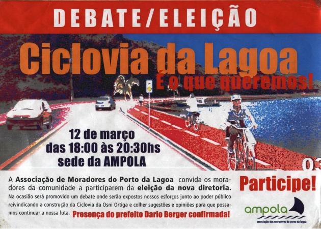 Cartaz de divulgação da reunião na AMPOLA.