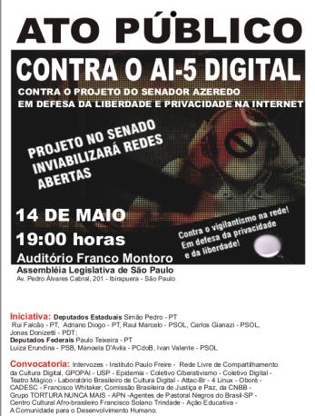 Ato contra AI-5 Digital