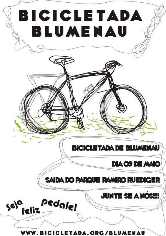 Cartaz da Bicicletada Blumenau 2009-05-09 01.