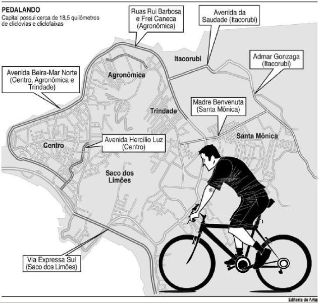 Pedalando. Capital possui 18,5km de ciclovias e ciclofaixas.