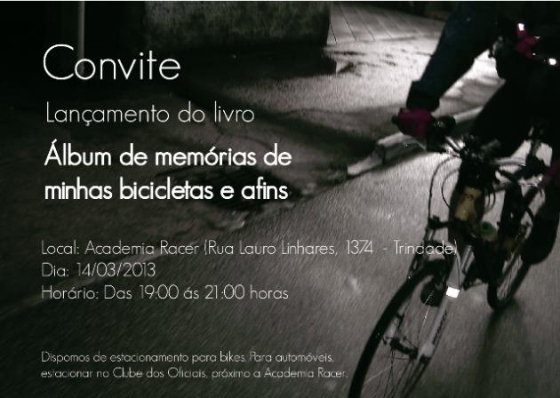 Album de memorias de minhas bicicletas e afins - convite