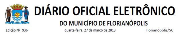 Diario Oficial de Florianopolis 2013-03-27