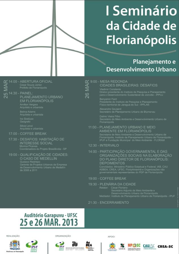Seminario Cidade de Florianopolis 2013-03-25.26