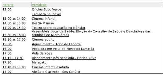 Florianopolis 2013-07-06 Sabado da Saude atividades