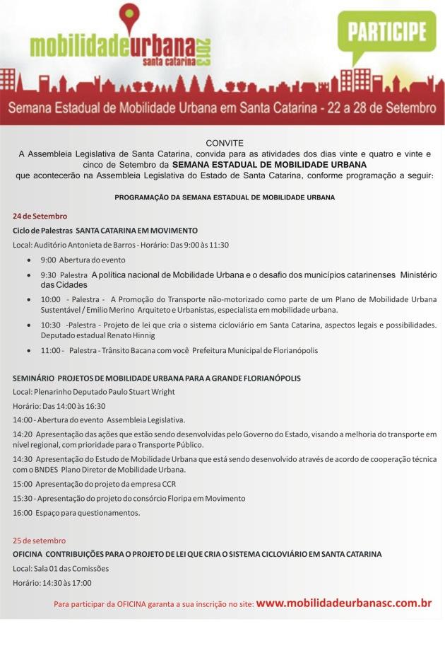 Florianopolis 2013-09-24.26 Semana Estadual da Mobilidade