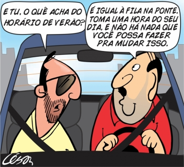 charge - Cesar Nogueira ND 2013-10-20 Horario de Verao