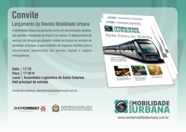Revista de Mobilidade Urbana - Convite
