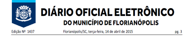 Diario Oficial de Florianopolis 2015-04-14