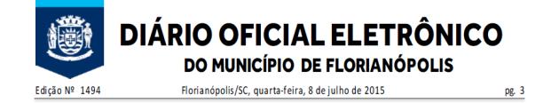 Diario Oficial de Florianopolis 2015-07-08